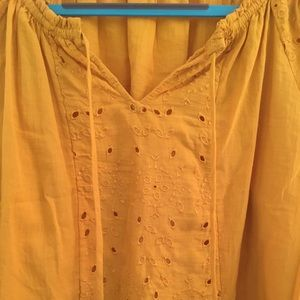Old Navy Tops - Gorgeous Boho Old Navy Peasant blouse top yellow